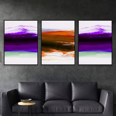Rainbow Wave Canvas Set