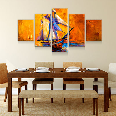 Sailing Abstract Canvas Set