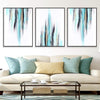 Teal Ribbons Canvas Set