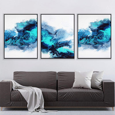 Teal Smoke Canvas Set