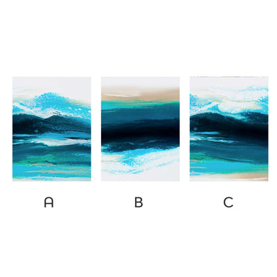 Teal Wave Canvas Set