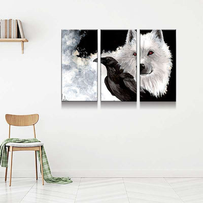Wolf and Crow Canvas Set