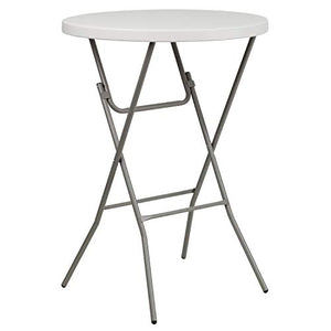 ' Round Granite White Plastic Table