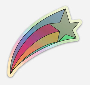 Holographic Shooting Star Vinyl Sticker