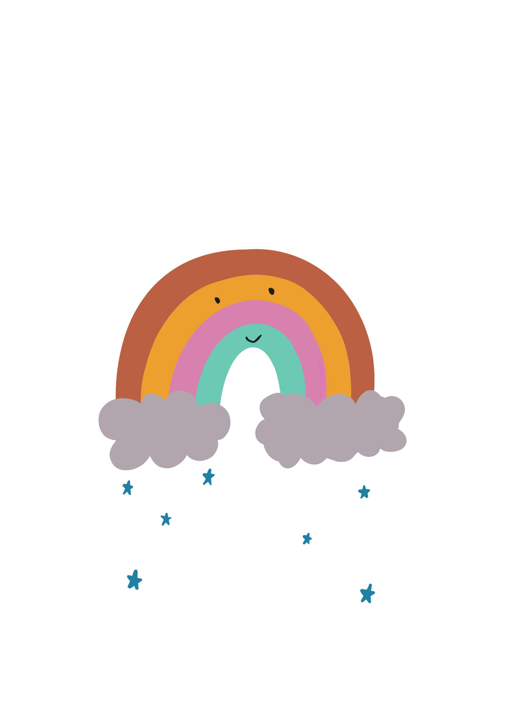 Happy Rainbow Cloud Print | 2 Sizes available