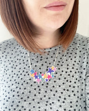 Load image into Gallery viewer, 40% off End of Line Sale - Star Burst Metallic Pink Acrylic Necklace