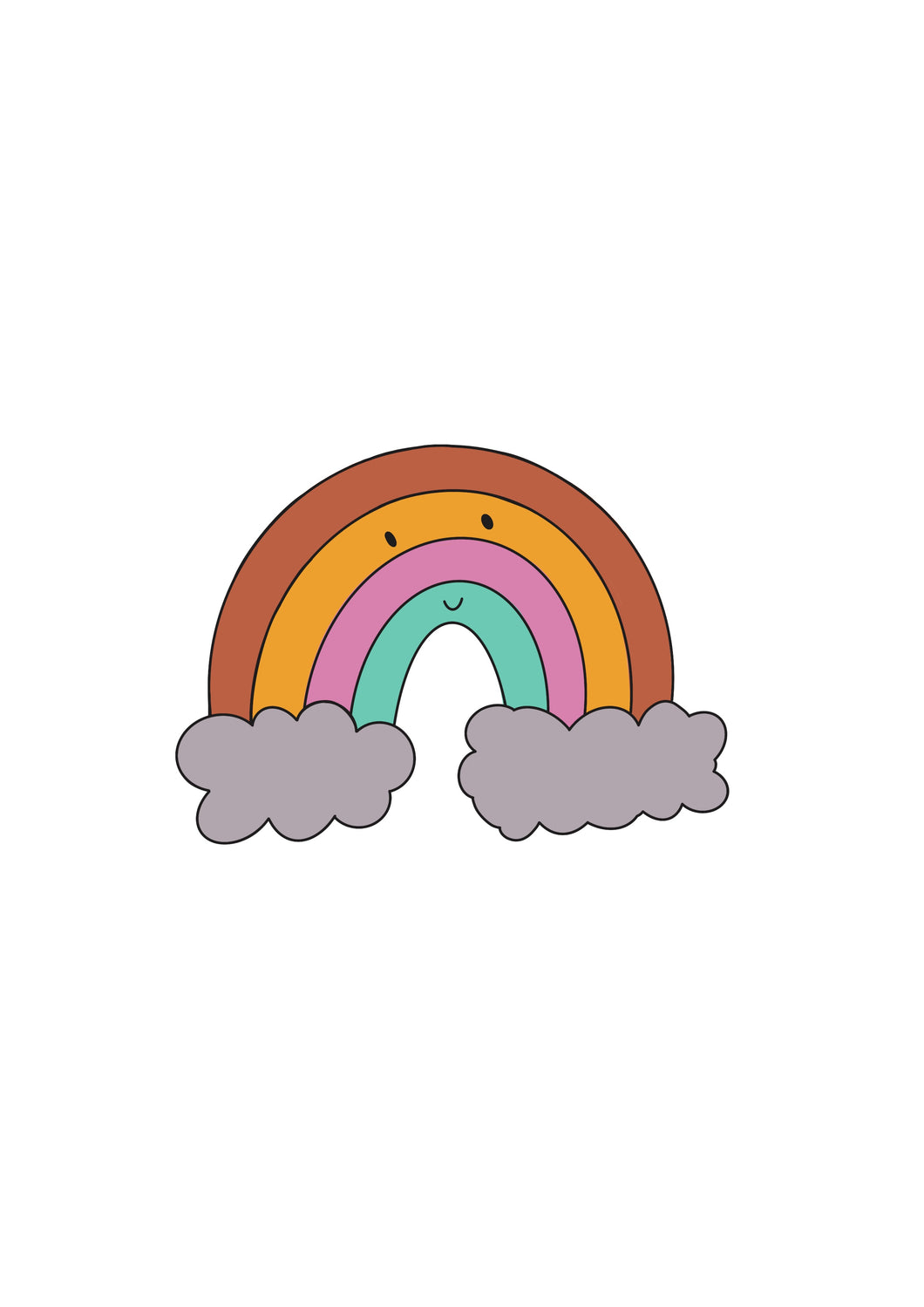 Happy Rainbow Vinyl Sticker