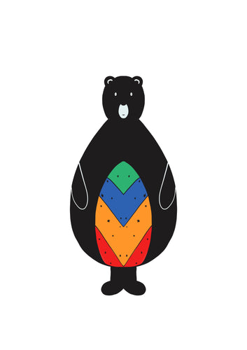 Rainbow Bear Print | 2 Sizes available