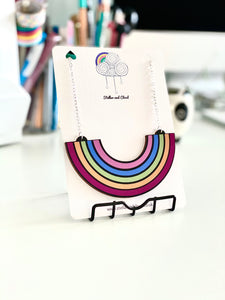 Large Wooden Rainbow Necklace