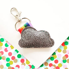 Load image into Gallery viewer, Sparkle Cloud and Rainbow Keyring