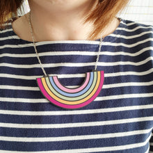 Load image into Gallery viewer, Large Wooden Rainbow Necklace