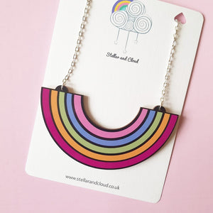 PRE- ORDER: Large Acrylic Rainbow Necklace