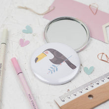 Load image into Gallery viewer, Dainty Forest | Toucan Pocket Mirror