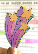 Load image into Gallery viewer, Glitter Triple Shooting Star Sticker