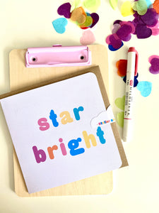 3 for 2 | 'Star Bright' Christmas Card | Send direct service available