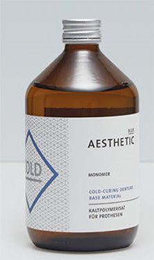 Candulor Aesthetic blue cold-curing denture base material monomer (liquid), 150ml or 500ml