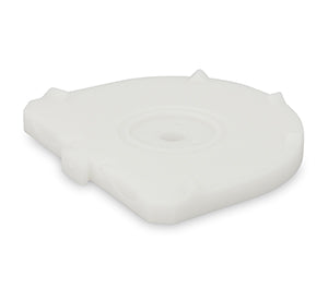 Baumann comBiflex® Basic base plate for Giroform®-System small, white, 100 pcs
