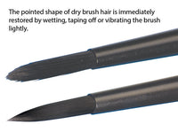 Bredent MagicContrast - Black Synthetic Hair Brushes