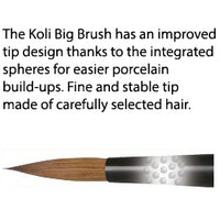 Bredent KoliBrush - Golden Brown Kolinsky Natural Hair Brushes