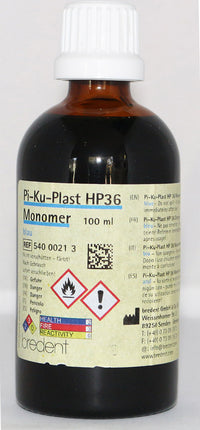 Bredent Pi-Ku-Plast HP 36 Monomer, 100ml, available in 5 colours