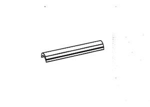 C&M Round bar with rider spacer, 1 pc