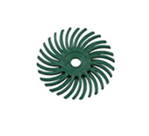 Lukadent Radial bristle disc Ø 25mm green grit 50, 4 pcs