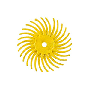Lukadent Radial bristle disc Ø 25mm yellow grit 80, 4 pcs