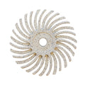 Lukadent Radial bristle disc Ø 25mm white grit 120, 4 pcs