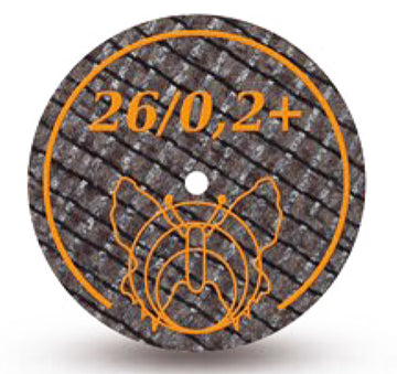 Motyl separating discs for steel, alloys and noble metals, 26/0.2+, 20 pcs, orange