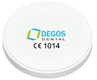 Degos Pre-coloured High Translucency Zirconia for Open CAD/CAM sytems, 1 pc