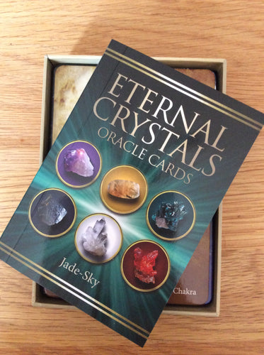 Eternal Crystals Oracle Cards. 44 cards and guidebook by Jade Sky. Chakra healing.