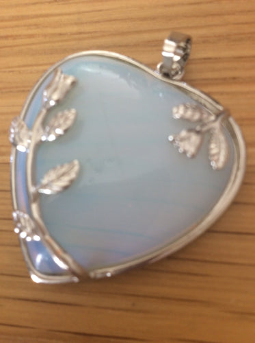 Beautiful Heart Pendant with Flower Detail