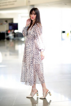 Load image into Gallery viewer, Leopard mid length dress