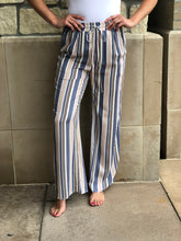 Load image into Gallery viewer, Striped full length lounge pant