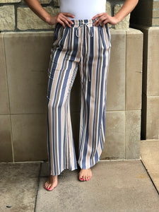 Striped full length lounge pant