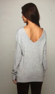 Cashmere blend sweater back