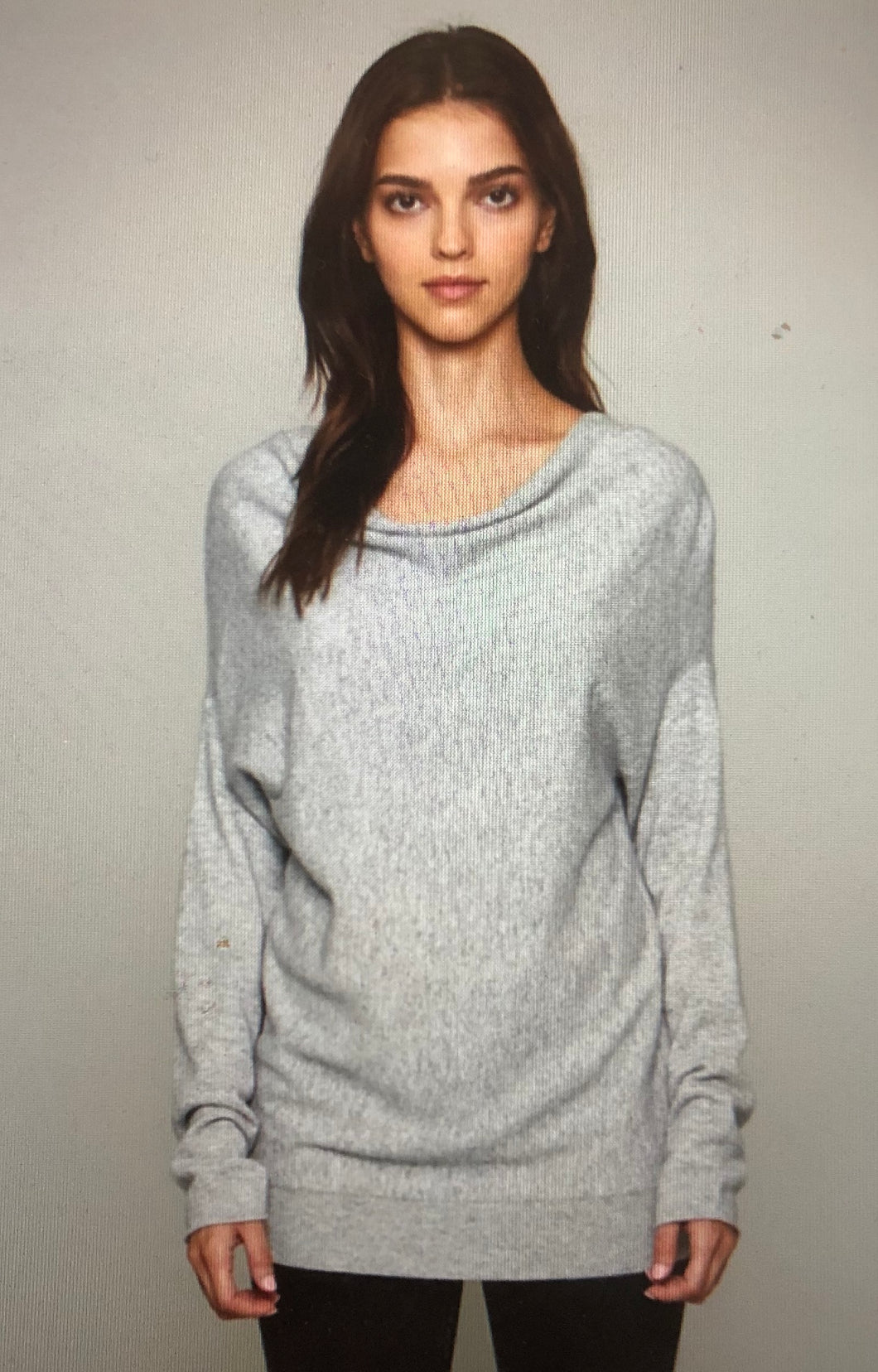 Cashmere blend sweater front