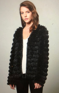 Shaggy fringe jacket