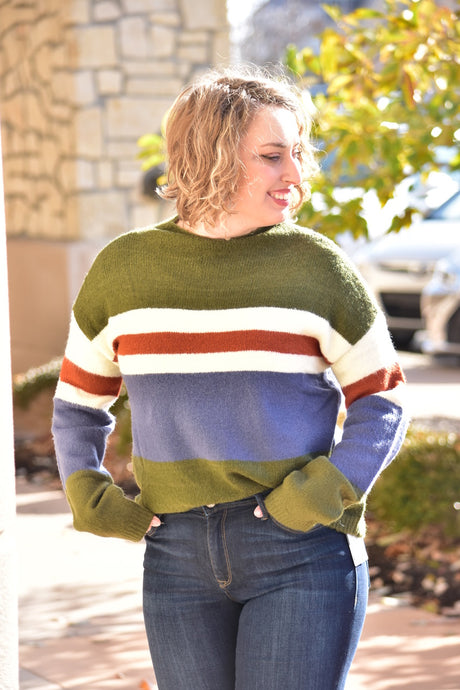 Mock Neck, Bell Sleeve Sweater