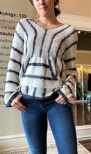 Load image into Gallery viewer, Stripe Sweater Hoodie