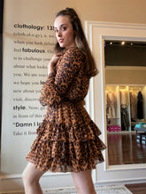 Load image into Gallery viewer, Ruffled Leopard dress