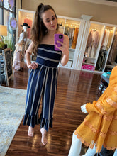 Load image into Gallery viewer, Strapless striped romper