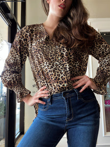 VINE & LOVE leopard top