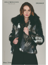 Load image into Gallery viewer, Multi Color Faux Fur Coat