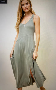 Mystree Modal Maxi Dress with Lace Up Back