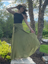 Load image into Gallery viewer, Olive A- Line maxi skirt