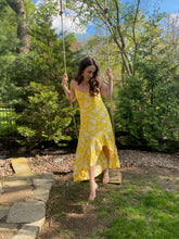 Load image into Gallery viewer, Lemon Yellow Hi-Low Dress