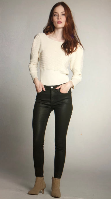 Black-Coated Skinny Jean
