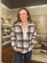 Load image into Gallery viewer, Grey Buffalo Check Sweatshirt