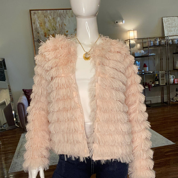 Faux Fur Fringe Jacket